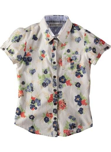 Çiçekli Gömlek-Asymmetry